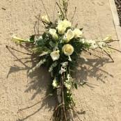 Handmade 5ft twig and rose cross