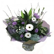 Purple & White Handtied